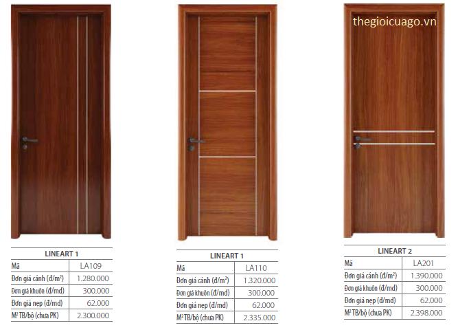 Bảng giá cửa gỗ Duratek