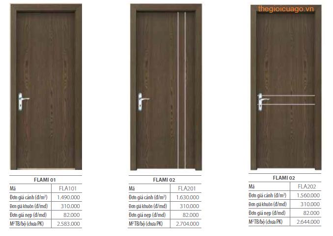 Bảng giá cửa gỗ Lamitek