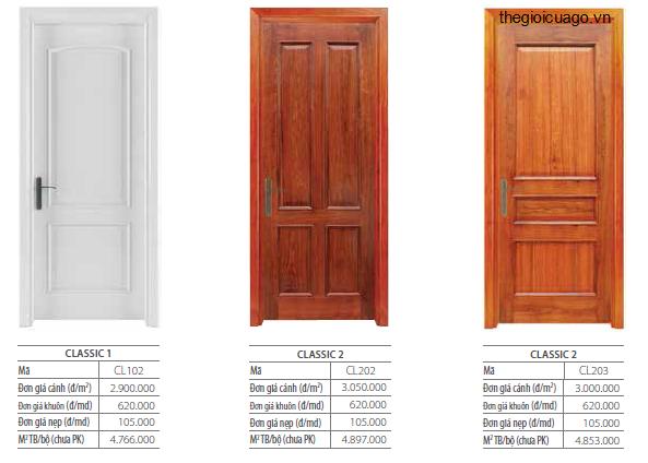 Bảng giá cửa gỗ solitek